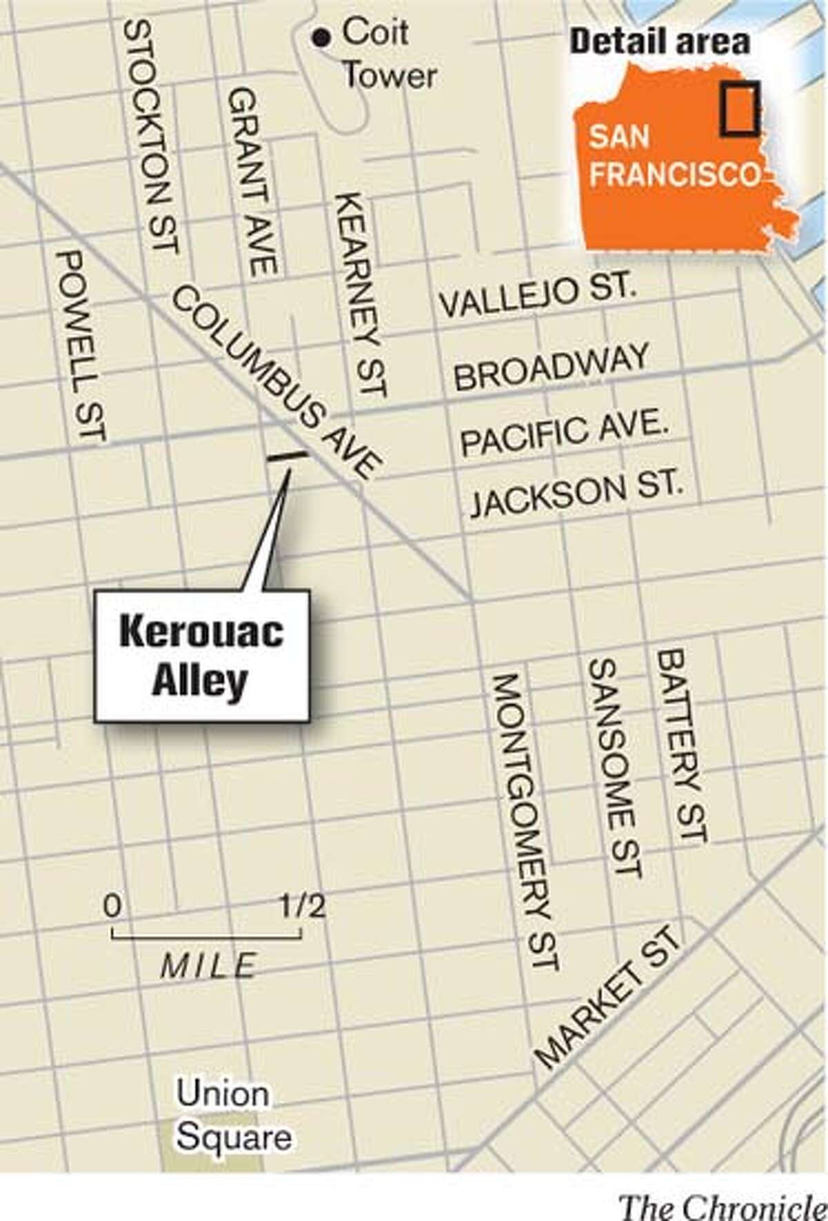Kerouac Alley. Chronicle Graphic