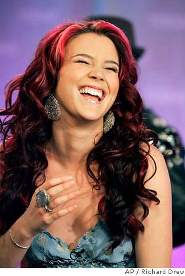 """Joss Stone reacts during an interview before she performed on the NBC """"Today"""" television program in New York, Tuesday March 20, 2007. The 19-year-old sang a song from her third album """"Introducing Joss Stone."""" (AP Photo/Richard Drew) Photo: RICHARD DREW"""