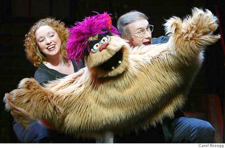 "AVENUEQ28_01.JPG Rita Dolphin, ""Trekkie Monster,"" and Rick Lyon in Avenue Q. CR: Carol Rosegg Photo: Carol Rosegg"