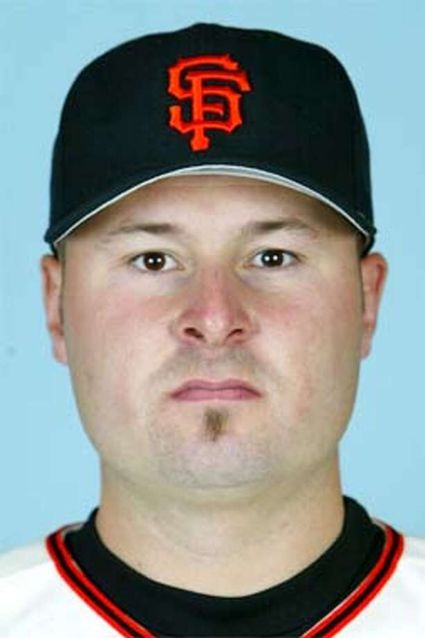This is a 2003 file photo of Jason Schmidt of the San Francisco Giants baseball team (AP Photo/file)