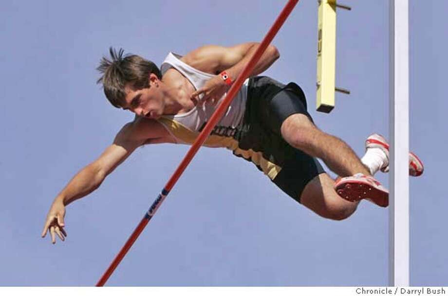 Casey Roche of Saint Francis, Mountain View, CA., clears one of his jumps in pole vault at Stanford Invitational Track and Field meet at Stanford's Cobb Track and Angell Field in Stanford, CA, on Friday, March, 30, 2007. photo taken: 3/30/07  Darryl Bush / The Chronicle ** roster (cq) Photo: Darryl Bush