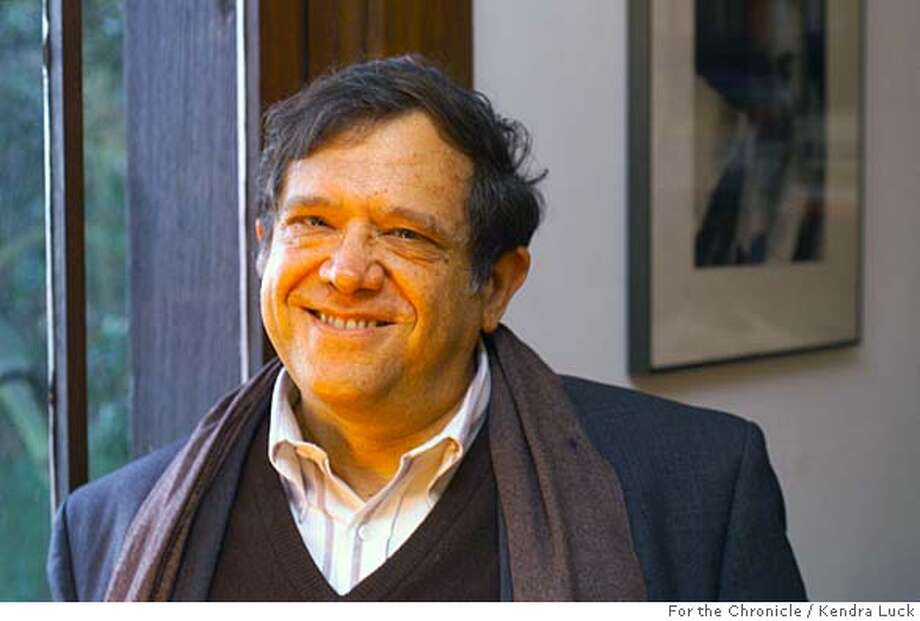 "LERNER-C-03DEC00-DD-KL ---Rabbi Michael Lerner author of the new book ""Spirit Matters"" at his Berkekley home. (KENDRA LUCK/SAN FRANCISCO CHRONICLE) CAT Photo: KENDRA LUCK"