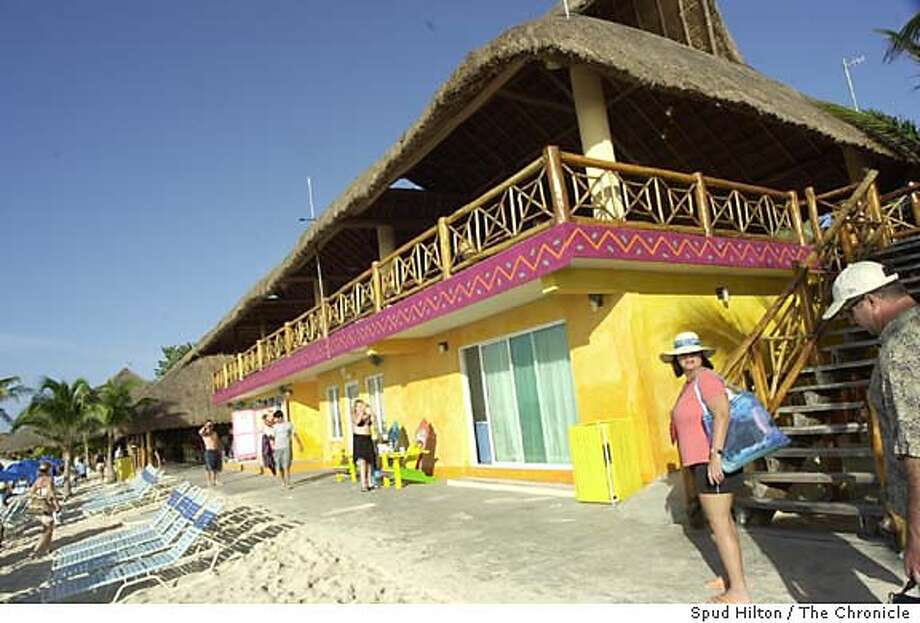 Paradise Beach, a new day resort south of the cruise ports on the island. Even the chic, developed resorts on the island are laid-back compared to the action on the mainland in Cancun and Playa del Carmen. Isla Cozumel on 2/11/05.  Spud Hilton / The Chronicle Photo: Spud Hilton