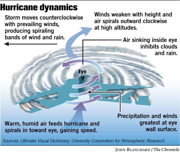 Hurricane fuel: warm, moist air over warm ocean water / How a ...