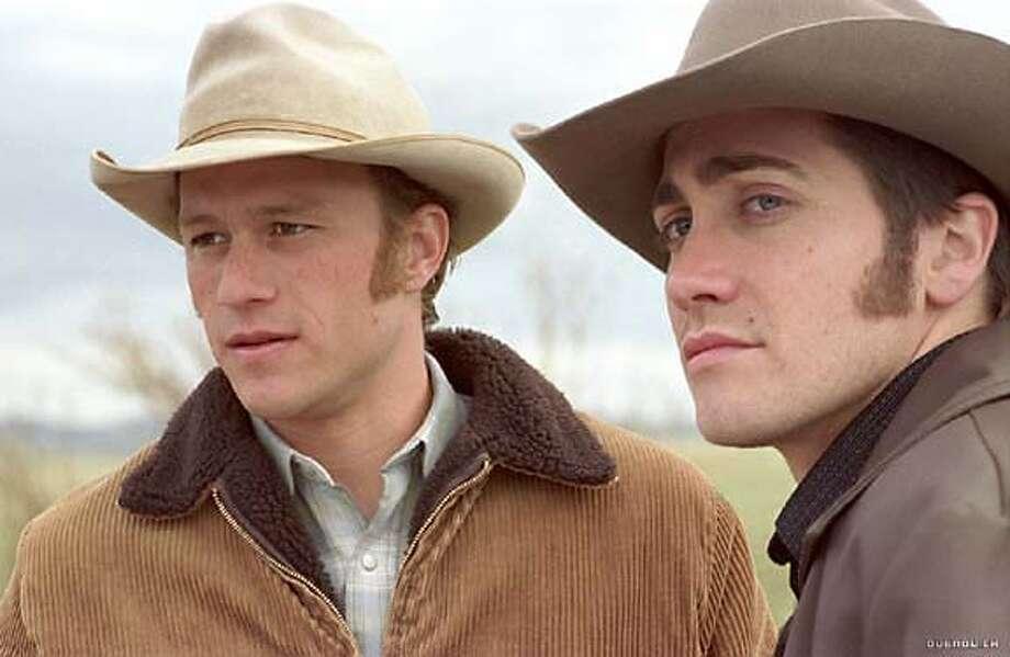 "Heath Ledger and Jake Gyllenhaal in ""Brokeback Mountain"" Photo: Focus Features"