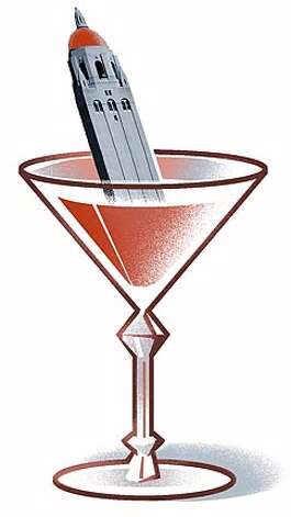 Stanford Cocktail. Chronicle illustration by Bill Russell