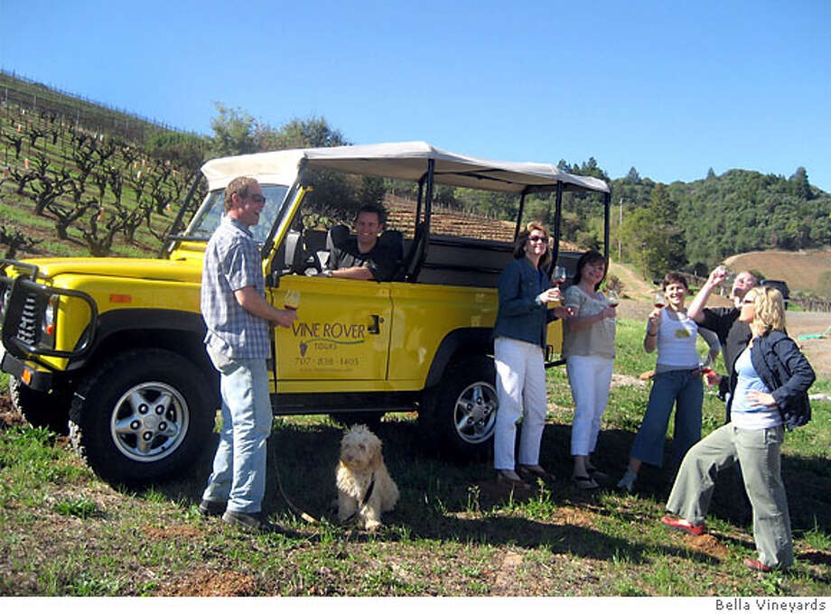 Vine Rover Tours giving a tour thru Bella Vineyards  photo courtsey Bella Vineyards Photo: Bella Vineyards