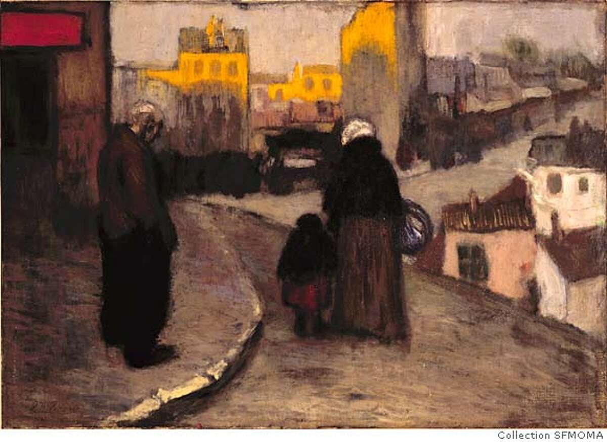 Pablo Picasso, Sc�ne de Rue (Street Scene), 1900; oil on canvas; 18 3/4 in. x 26 1/4 in.; Collection SFMOMA, bequest of Harriet Lane Levy