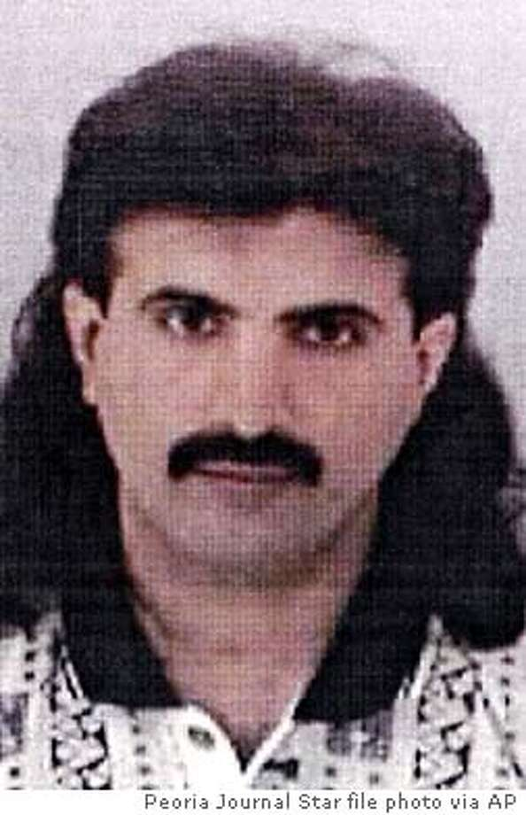**FILE** Ali Saleh Kahlah Al-Marri, shown in an undated photo, was designated Monday June 23, 2003, as an enemy combatant by President Bush and could ultimately face trial by a military tribunal, government officials said. Al-Marri, a native of Qatar, is alleged to have been paving the way for al-Qaida operatives to settle in the United States. Al-Marri is the third person designated an enemy combatant since the Sept. 11, 2001 terrorist attacks, and the only one who is not a U.S. citizen. (AP Photo/Peoria Journal Star, File)