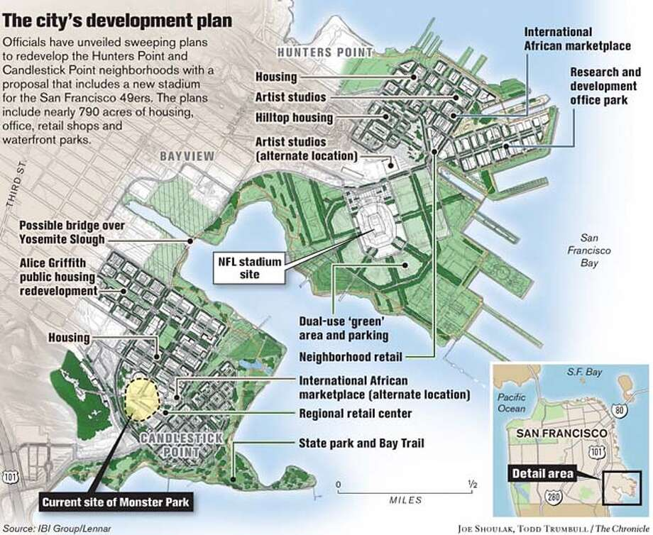 The City's Development Plan. Chronicle graphic by Joe Shoulak and Todd Trumbull