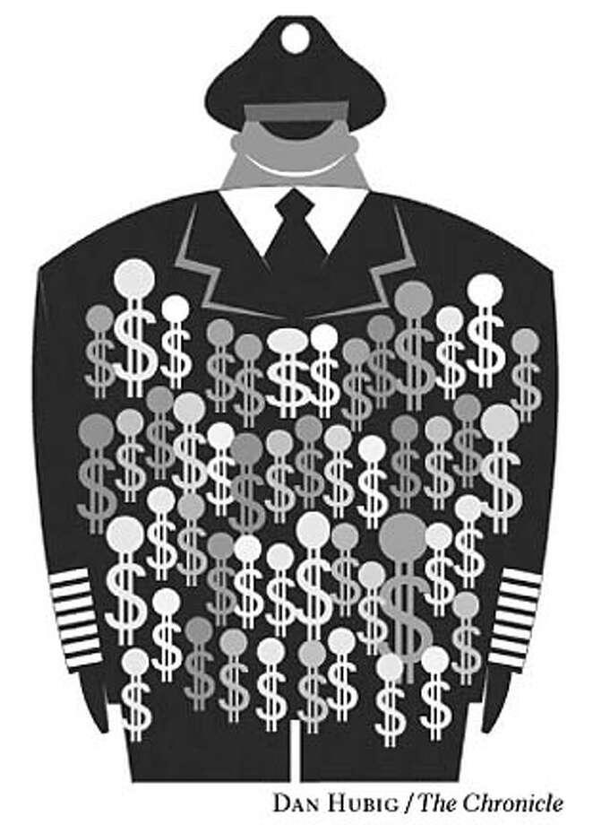 Pentagon dollars. Chronicle illustration by Dan Hubig