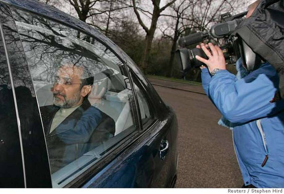 Iran's ambassador Rasoul Movahedian arrives at the Foreign Office in London March 23, 2007. Movahedian arrived at Britain's Foreign Office on Friday after being summoned over the seizure of 15 British navy personnel by Iranian forces in the Gulf. REUTERS/Stephen Hird (BRITAIN) Photo: STEPHEN HIRD