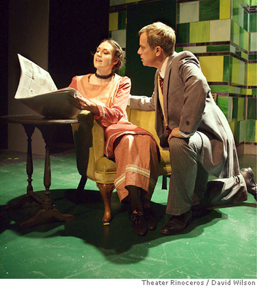 Left to Right: Kathy Rentschler & John Fisher in The Philanderer. David Wilson / Theater Rinoceros Photo: David Wilson