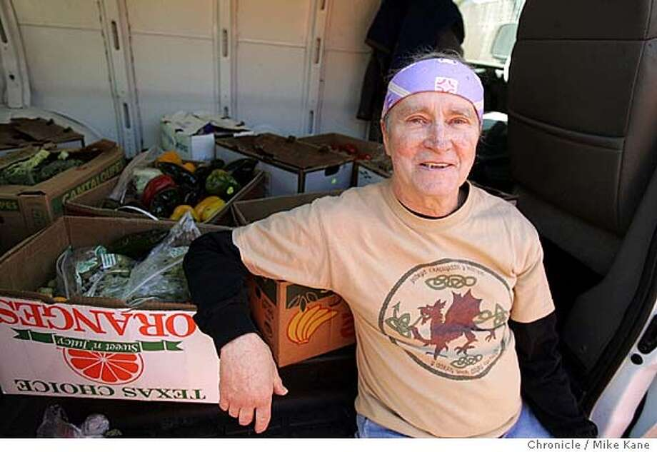 JA_MEEHAN_073_MBK.JPG  John Meehan, executive director and founder of Groceries for Senior and recipient of the Jefferson Award, poses in his van after delivering groceries to Margaret Victory, 80, a former Groceries for Seniors volunteer, at her apartment in San Francisco, CA, on Wednesday, March, 21, 2007. photo taken: 3/21/07 Mike Kane / The Chronicle **John Meehan Margaret Victory MANDATORY CREDIT FOR PHOTOG AND SF CHRONICLE/NO SALES-MAGS OUT Photo: MIKE KANE