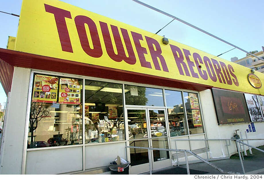 tower10011_ch.JPG  Tower Records, this one a Columbus and Bay, filed for bankruptcy because store sales have been hurt by the rush to get music online.  CHRIS HARDY/The Chronicle Tower Records' Columbus Street store was the largest record store in the country when it opened in 1968. , is one of 10 of the chain's stores located in the Bay Area.ummy text goes here. Dummy text goes ProductNameChronicle Ran on: 06-28-2006  Tower Records, shown here in San Francisco, hopes to set itself apart from other download sites by selling music in a format encoded to provide higher sound quality than traditional downloads.  Ran on: 08-26-2006 MANDATORY CREDIT FOR PHOTOG AND SF CHRONICLE/NO SALES-MAGS OUT Photo: CHRIS HARDY