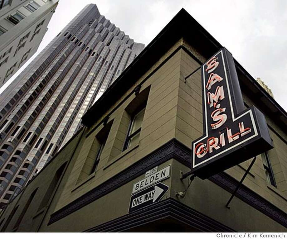 Sam's Grill at 374 Bush is among the Chronicle's 100 Best Restaurants. It's at Bush and Belden, near the Bank of America Building.  Chronicle photo by Kim Komenich in San Francisco Photo: Kim Komenich