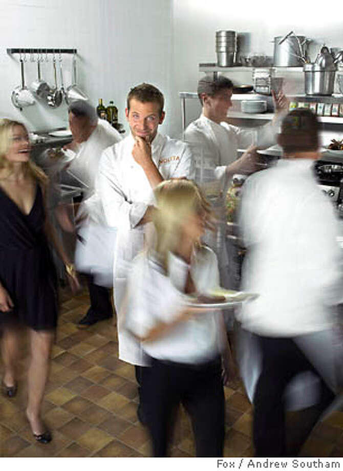 """(NYT19) UNDATED -- Sept. 16, 2005 -- TV-BOURDAIN-KITCHEN-2 -- Bradley Cooper plays a fictionalized version of Anthony Bourdain on Fox�s """"Kitchen Confidential."""" The real chef has largely left the kitchen and travels the world for his show """"No Reservations."""" (Andrew Southam/Fox Photo: ANDREW SOUTHAM/FOX"""