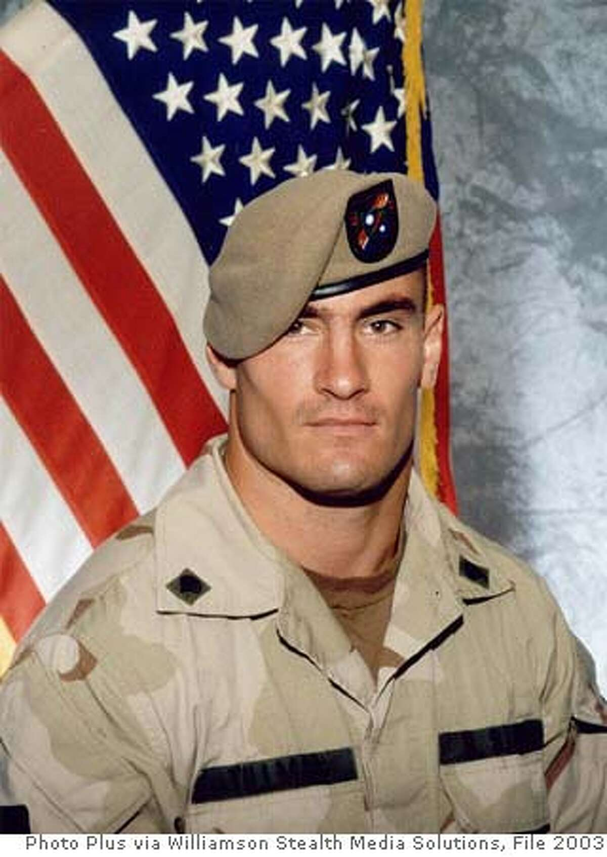 ** FILE ** Former Arizona Cardinals football player Pat Tillman, is shown in a June 2003 photo, released by Photography Plus. A Pentagon investigation will recommend that nine officers, including up to four generals, be held accountable for missteps in the aftermath of the friendly fire death of Tillman in Afghanistan, senior defense officials said Friday, March 23, 2007. (AP Photo/Photography Plus via Williamson Stealth Media Solutions) ** NO SALES **