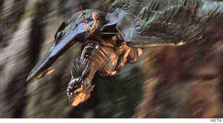 FX-41 Swooping down into the battle, Eragon (Ed Speleers) and Saphira come to the aid of the Varden soldiers as they battle Durza�s evil army. Photo credit: WETA  TM and �2006 Twentieth Century Fox. All rights reserved. Not for sale or duplication.  Ran on: 12-15-2006  Eragon (Ed Speleers) and the dragon Saphira swoop into battle against an evil army in the adaptation of the best-selling book about a boy and a dragon fighting evil. Photo: Photo Credit: WETA