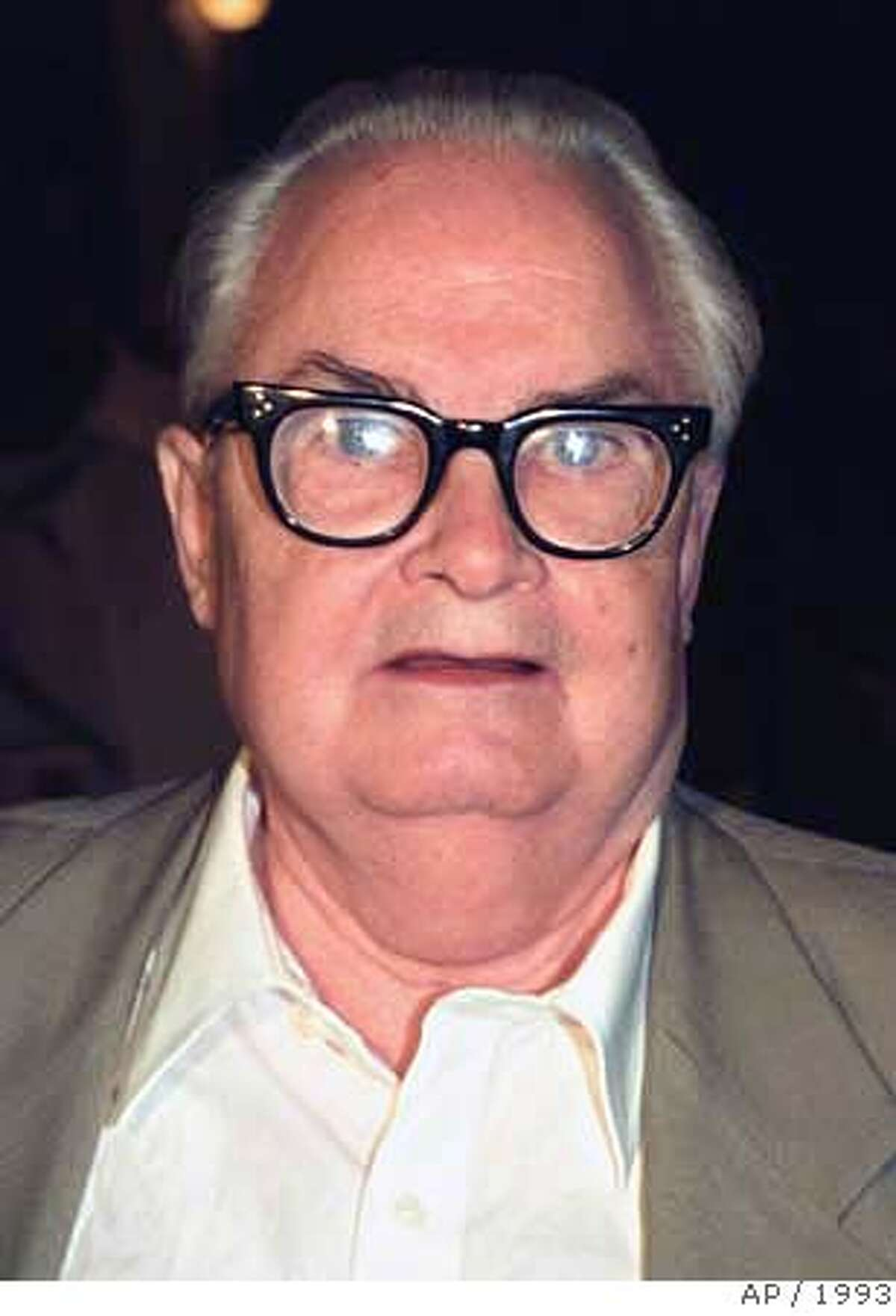 """This photo of character actor Calvert DeForest was taken in New York in August of 1993. DeForrest, who appeared as Larry """"Bud"""" Melman on NBC's """"Late Night with David Letterman"""" and under his own name when Letterman brought the show to CBS, died Monday, March 19, 2007. He was 85. (AP Photo) AN AUGUST 1993 FILE PHOTO."""