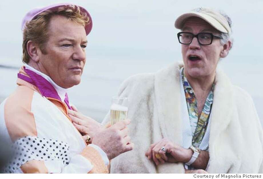 Jim Davidson, left, as Lee Pratt with John Malkovich as the notorious Stanley Kubrick imposter Alan Conway in COLOR ME KUBRICK, a Magnolia Pictures release. Photo courtesy of Magnolia Pictures. Photo: Photo Courtesy Of Magnolia Pictu