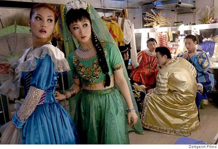 WORLD16 Jing Jue as Wei (left) and Zhao Tao as Tao in THE WORLD. Zeitgeist Films Photo: Zeitgeist Films