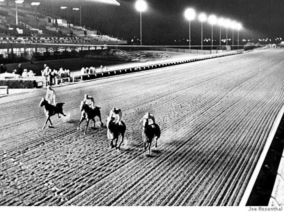 The first night race in California occured at Bay Meadows.
