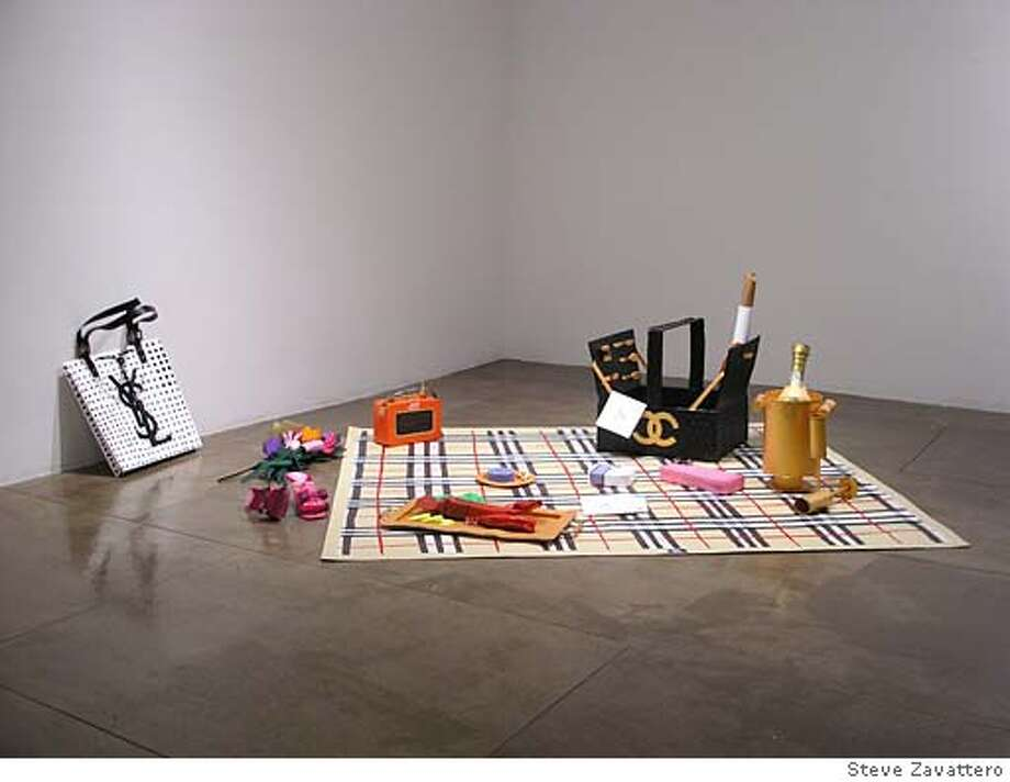 """Picnic"" (2005) paper, hot glue and acrylic by Libby Black Steve Zavattero on 9/15/05 in . Steve Zavaterro / HO Photo: Steve Zavaterro"