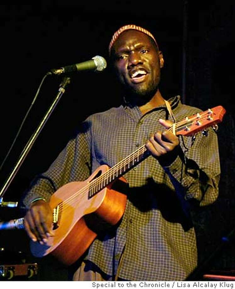 Grammy-nominated J.J. Keki, an Ugandan Jew, performs at the festival, where he spoke about promoting peace in his country. Photo by Lisa Alcalay Klug, special to the Chronicle