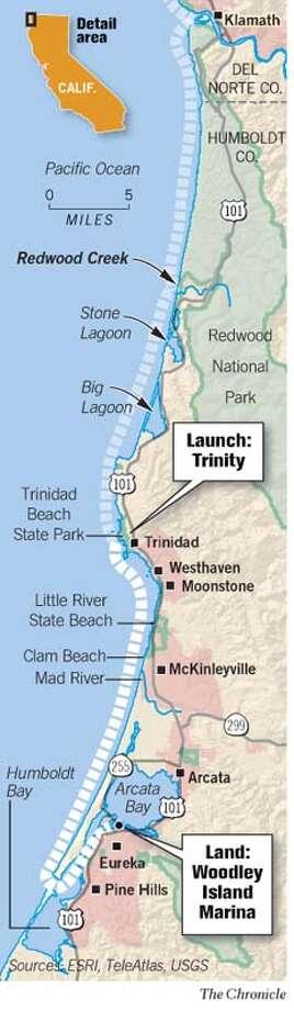 North Coast Map. Chronicle Graphic Photo: Joe Shoulak