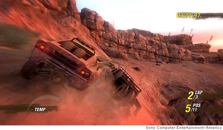"Screenshot from Sony Computer Entertainment America's ""Motorstorm"" for PlayStation 3 Photo: Ho"