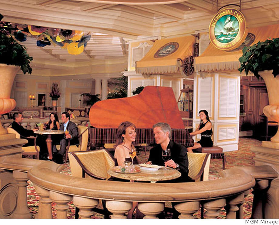 Visitors to the Petrossian Bar at the Bellagio in Las Vegas can enjoy afternoon tea every day. Photo courtesy MGM Mirage