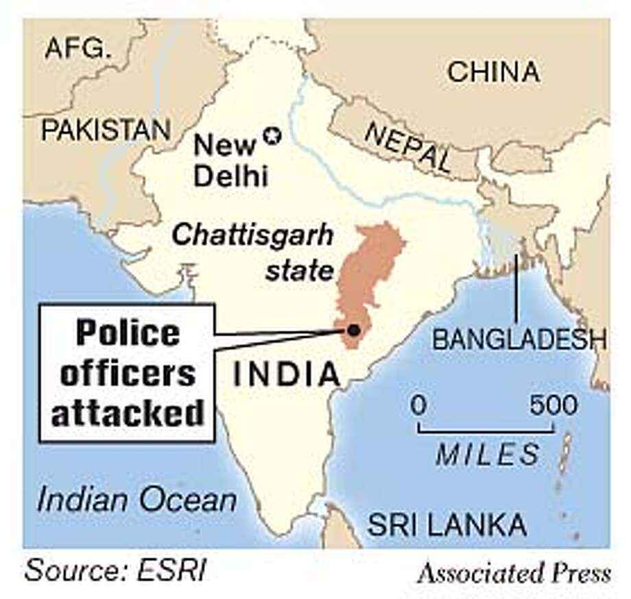 India. Associated Press Graphic