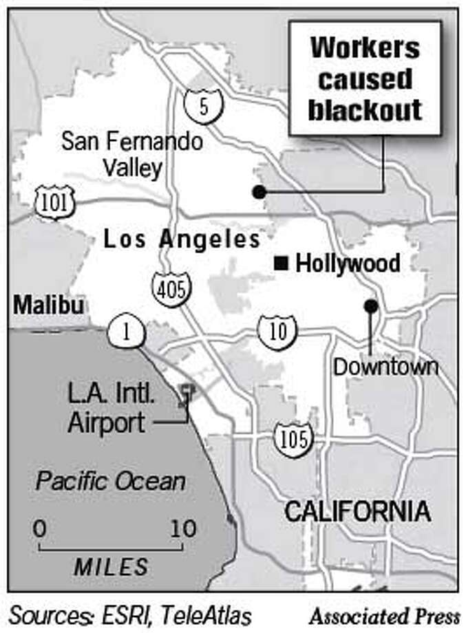 L.A. Loses Power. Associated Press Graphic