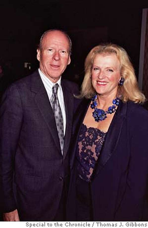 Austin Hills with his late wife, Erika Hills, at the Fall Antiques Show Nov. 2004 Ran on: 08-20-2005  Erika Hills Photo: Thomas J. Gibbons/Special To The
