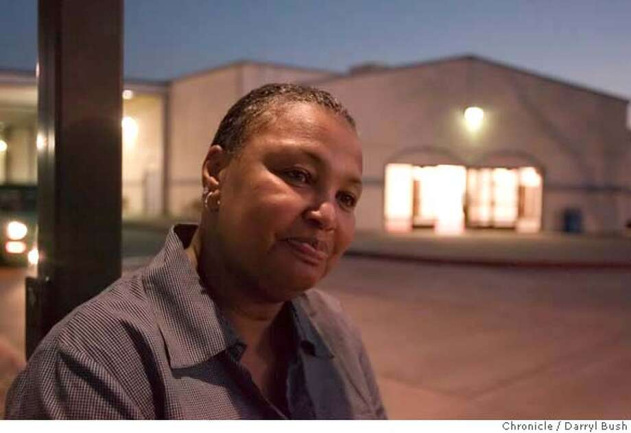 church17_0002_db.JPG  Marian Howard sits in front of the Acts Full Gospel Church near the parking lot where Tanya McCall was shot in Oakland, CA, on Friday, March, 16, 2007. photo taken: 3/16/07  Darryl Bush / The Chronicle ** (cq) MANDATORY CREDIT FOR PHOTOG AND SF CHRONICLE/NO SALES-MAGS OUT Photo: Darryl Bush