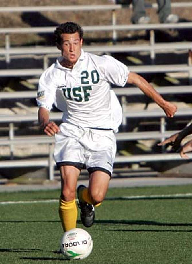 Photo of USF soccer standout Aaron Chandler. Photo: Courtesy Of USF