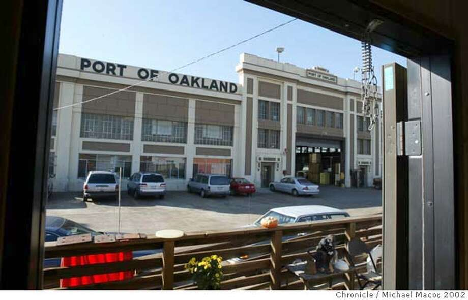 "Photo depicting the front of the building, shows a part of the building (the fa�ade and first 20,000 square feet) that would be preserved regardless of whether the Vitner's Center project ever sees light of day WATERFRONT9-C-18JAN02-EF-MAC Developers hired by The Port of Oakland are looking into turning the 9th Ave. Terminal Building into a marketplace. Now the warehouse is used to store cargo, at present it is filled with bales of cotton.Terminal is a throwback to the pre-World War II waterfront, a large warehouse for bulk cargo, also docked along the front is the training vessel ""Golden Bear"" which is now the ""Artship"" a theater, arts and academic program. by Michael Macor/The Chronicle CAT Photo: MICHAEL MACOR"