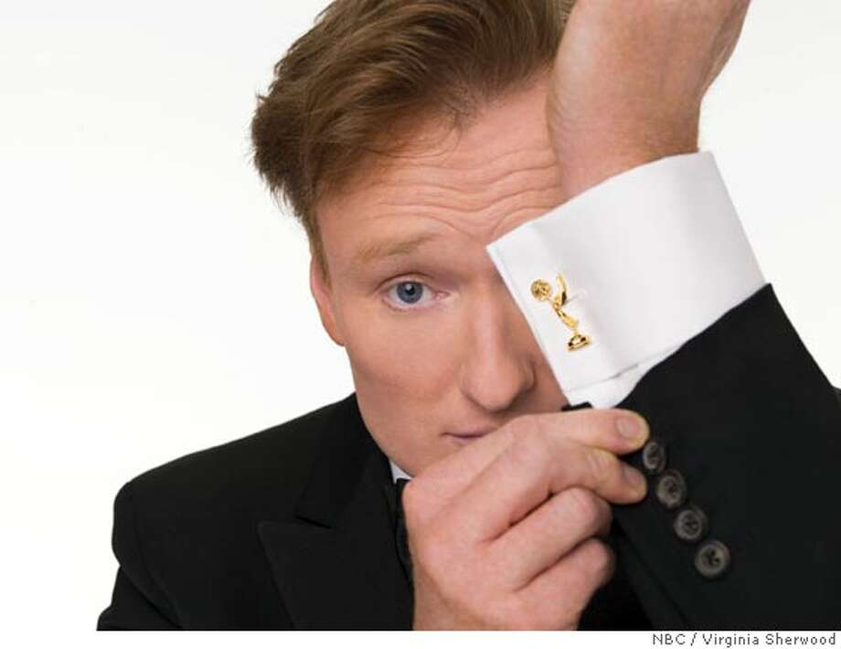 """THE 58th ANNUAL PRIMETIME EMMY AWARDS -- Hosted by Conan O'Brien, critically acclaimed host of NBC's """"Late Night With Conan O'Brien"""", airs live on NBC. -- Pictured: Conan O'Brien -- NBC Photo: Virginia Sherwood  Ran on: 03-15-2007  Conan O'Brien, host of a late-night talk show, will set up shop at the Orpheum Theatre for a week.  Ran on: 03-15-2007 Photo: Virginia Sherwood"""