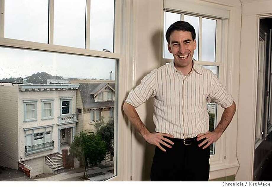 REDFIN_030_KW.jpg  Redfin CEO Glenn Kelman poses for a portrait in a home on Parnassus in San Francisco that his online real estate company recently brokered on Thursday February 22, 2007.  Kat Wade/The Chronicle Mandatory Credit for San Francisco Chronicle and photographer, Kat Wade, No Sales Mags out Photo: Kat Wade