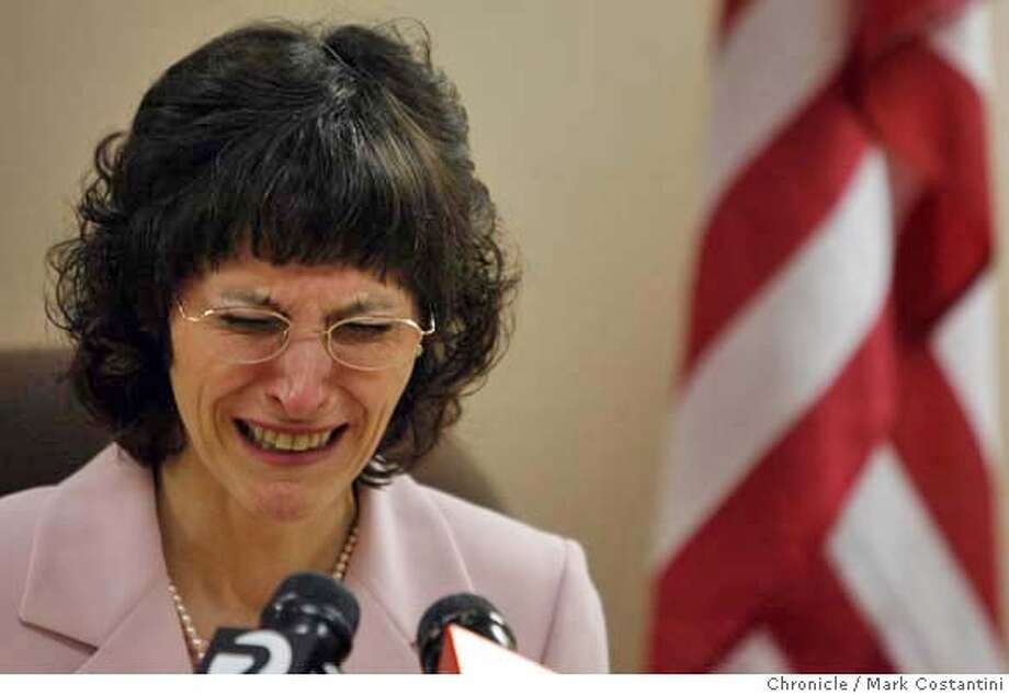 Angel Raich cries at news conference in Oakland at the State Building held by her and her attornies today to discuss a federal appeals court ruling that rejected Raich's bid for the right to use medical marijuana to alleviate her serious illnesses.  photo taken on 3/14/07 ( Mark Costantini / The Chronicle ) Angel Raich (cq) MANDATORY CREDIT FOR PHOTOGRAPHER AND SAN FRANCISCO CHRONICLE/NO SALES-MAGS OUT Photo: Mark Costantini