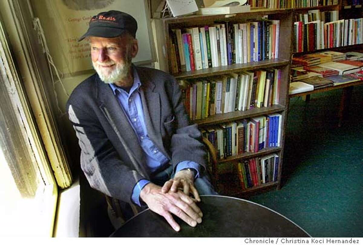 City Lights Bookstore founder, Lawrence Ferlinghetti, in the Poetry Room. City Lights Bookstore celebrates its 50th anniversary and we document the store and shoot owner, Lawrence Ferlinghetti . Shot on 5/15/03 in Redwood City. CHRISTINA KOCI HERNANDEZ / The Chronicle