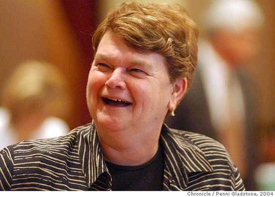 WHO WIL SUCCEED JOHN BURTON as senate pres. pro tem. LA Senator Shelia Kuehl.  8/10/04 in Sacramento.  Penni Gladstone / The Chronicle Photo: Penni Gladstone