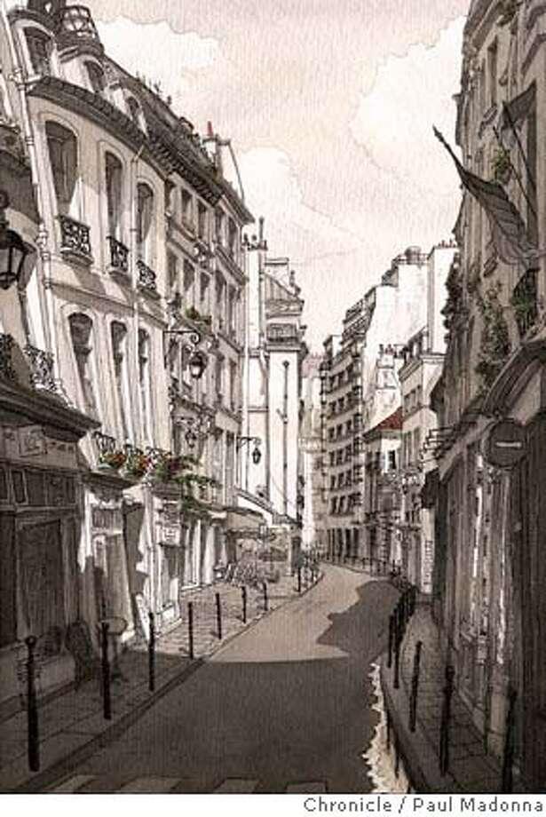 Marais. Chronicle illustration by Paul Madonna