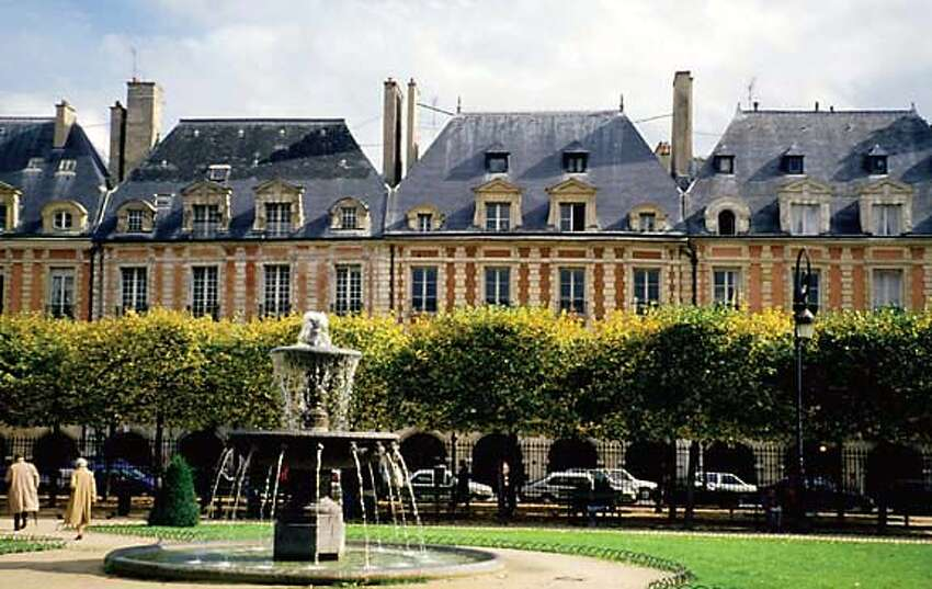 The Place des Vosges in Paris' Marais neighborhood.