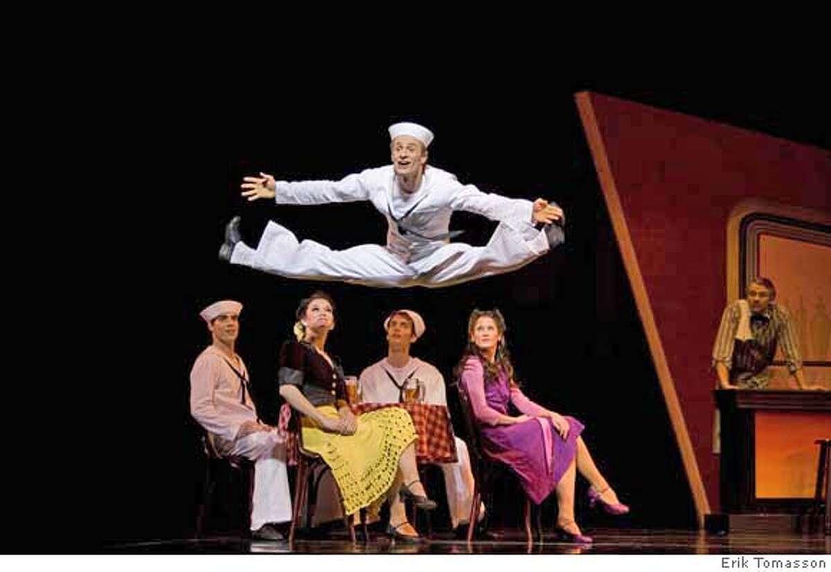 San Francisco Ballet in Robbins' Fancy Free. � Erik Tomasson