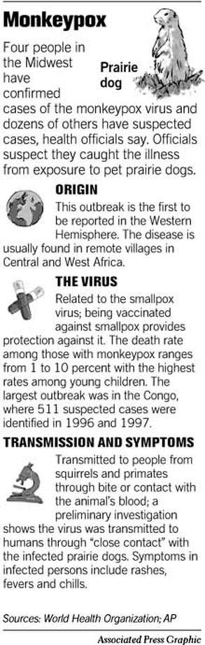 Monkeypox. Associated Press Graphic