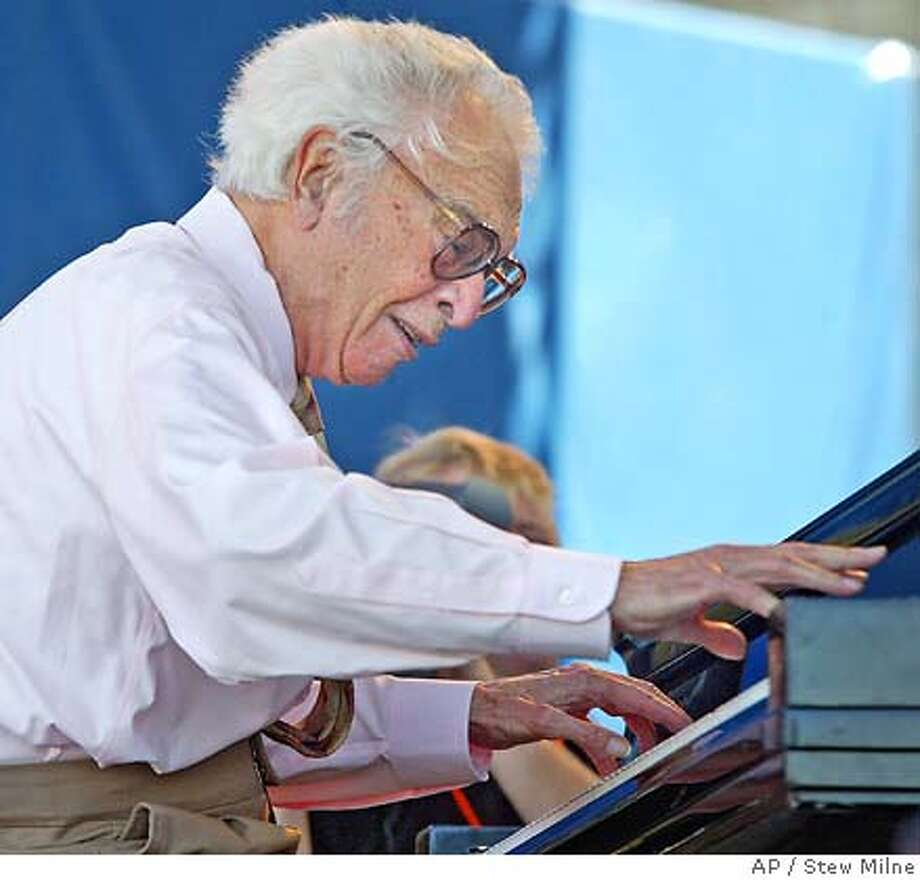 Dave Brubeck and his quartet perform at the JVC Jazz Festival in Newport, R.I., Sunday, Aug. 13, 2006. Photo: STEW MILNE