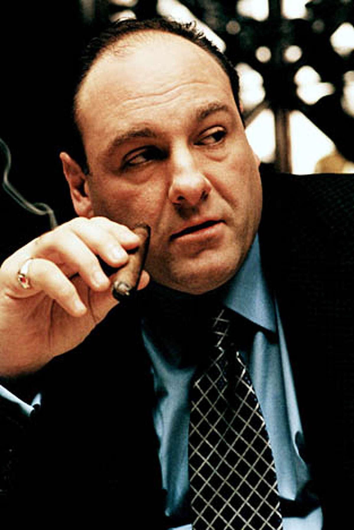 "James Gandolfini as Tony in ""The Sopranos'�'' third season."