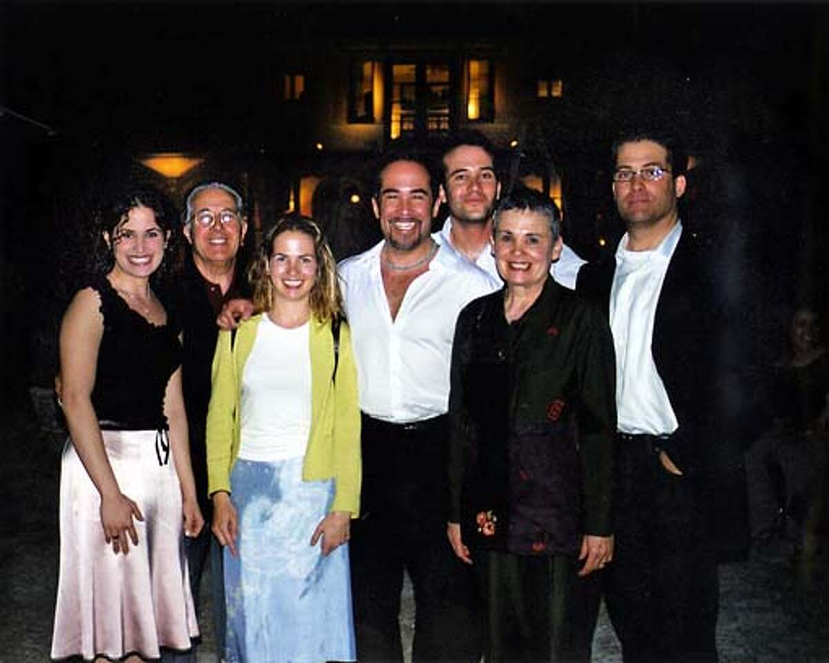 The Chavez family poses together, including from left, Elena; paterfamilias Raymond; Andrea; Martin; Tom; mother Rose; and Richard. Photo courtesy of the Chavez family